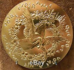 TRÈS RARE Médaille de Voeux en bronze florentin monogramme ER