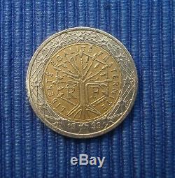 TRES RARE Pièce 2 euros FAUTEE France 1999 2 faces identiques meme