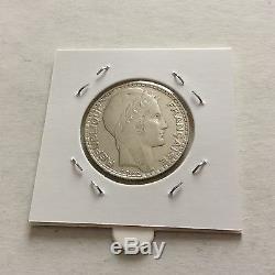TRES RARE! Pièce en argent de 10 F Turin 1937. SUP