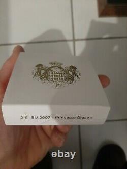 TRÈS Très RARE pièce de collection 2 euros Commémorative Monaco Grace Kelly 2007