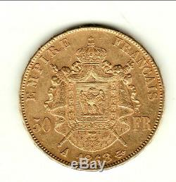 Trés RARE SUP 50 FRANCS OR NAPOLEON III TETE LAUREE 1868 A
