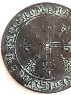 Très RARE ancienne GRANDE MEDAILLE ANNE DE BRETAGNE en CUIVRE numérotée 164/500