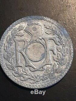 Tres Rare 10 Centimes Lindaeur 1941 Non Trouee