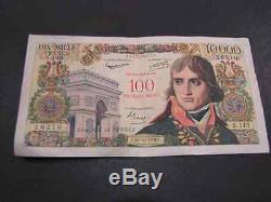 Tres Rare 10000 F Bonaparte Surcharge 100 Nf En Ttb/sup