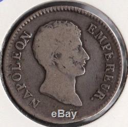Tres Rare 2 Francs Napoleon Empereur Argent 1807 W (lille)! 4114 Exemplaires