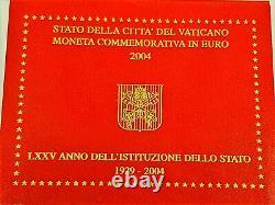 Tres Rare 2 Officiel Commemorative Vatican 2004 Bu75 Annive/de Le Fondation