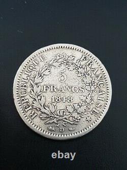 Tres Rare 5 Francs Hercule 1848 D En Argent A Voir