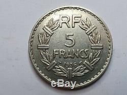 Très Rare 5 Francs Lavrillier 1936