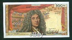 Très Rare 500 Nf Molière 07/04/60 Sup+