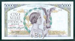 Très Rare 5000f Victoire Du 08/11/1934 Sup+