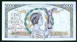 Très Rare 5000f Victoire Du 13/10/1938 Ttb