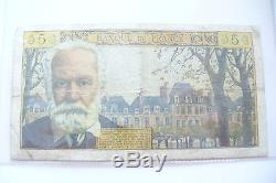 Très Rare & Ancien Billet 5 Francs V. Hugo // 05/11/1965 N. 161 // Tb
