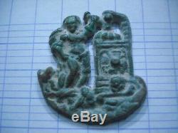 Tres Rare- Applique en bronze- Enseigne De Pèlerin. Féodale