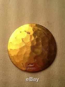 Tres Rare! Art Deco Medaille De L'amitie Et De L'amabilite Jean Despres