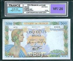 Très Rare Billet 500f La Paix Du 17/05/1944 Tb