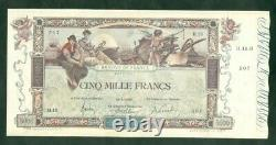 Très Rare Billet De 5000f Flameng Du 18 1 1918 Sup+