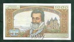 Très Rare Billet De 50nf Sur 5000f Henry IV Du 30 10 58 Ttb+