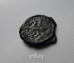 Tres Rare Bituriges Potin Au Bucrane Et Au Cheval / Cavalier Gaulois