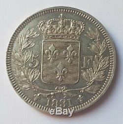 Très Rare Essai- 5 Francs Henri V Argent 1831 Essai