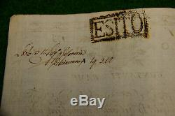 Tres Rare Lettre De Banque Epoque Joseph Bonaparte Roi De Naples 1806