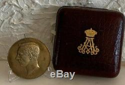 Très Rare Médaille Albert 1er 1927 Belge + Écrin argent Silver Medal L@@K
