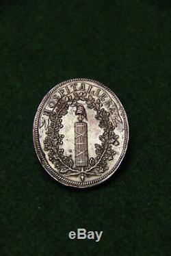 Tres Rare Medaille De Fonction D' Hospitaliere Epoque Revolution