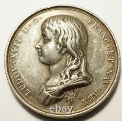 Tres Rare Medaille Pour Louis XVII 21 Janvier 1793