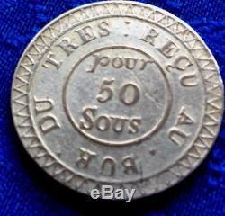 Tres Rare Monnaie 50 Sous 1822 Gouv De Maurice Et Dep En Argent