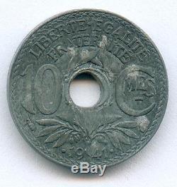Tres Rare Monnaie De 10 Centimes Lindaueur Piefort De 1941 En Zinc @ Tres Rare