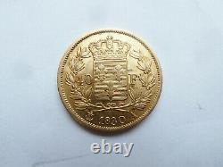 Trés Rare Piéce 40 Francs Or De Charles X 1830 A Des Erreurs Sur La Tranche Sup
