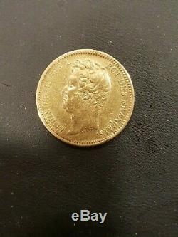 Tres Rare Tranche En Creux 20 Francs Or Louis Philippe Tete Nue 1830 A Paris