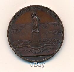 Très Rare médaille Bartholdi Statut Liberté Amitié USA France 1776-1876