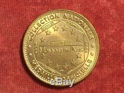 Trés beau jeton touristique Monnaie de Paris la Montagne des singes 2002 RARE