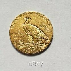 Très belle et rare pièce de 5 dollars or indien 1911 Philadelphie