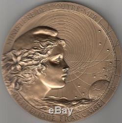 Très belle médaille Française en bronze Ministère de L'Outre-Mer MDP (RARE)