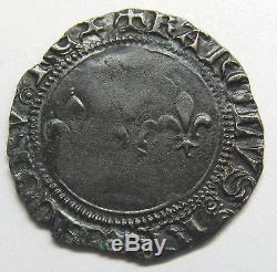 Très belle monnaie Charles VII Double Tournois Troyes Rare