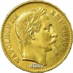 Très rare 1 Pièce francaise OR 20 francs A 1868 Napoléon III TTB ORiginal