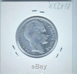 Tres rare 10 FRANCS 1937 TURIN argent SUP ETAT VOIR SCAN AVANT DE ACHETER