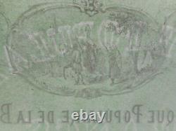 Trés rare 1879 billet suisse uniface de 20 fr banque populaire de la broye neuf