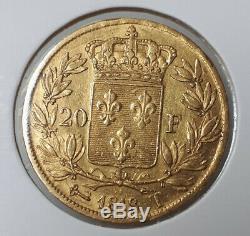Très rare 20 Francs Or louis XVIII 1818 T