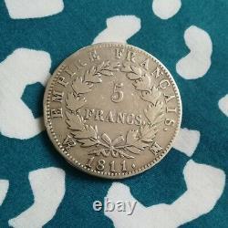 Très rare 5 Francs Argent Napoléon 1er Tête Laurée 1811 MA Marseille