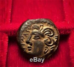 Très rare Bronze aux deux légendes ISVNIS (Bituriges/Arvernes)