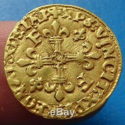 Tres rare Demi-Ecu or au Soleil François 1er Toulouse, monnaie or