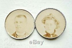 Trés rare MEDAILLE BOITE DE MARIAGE argent 1869