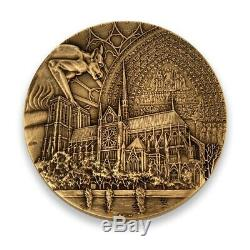 Très rare Médaille Notre-Dame de Paris bronze Florentin épuisé MDP 991/999