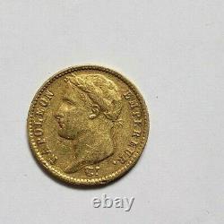 Très rare à la vente et très belle pièce de 20 francs or 1812 K Napoleon I