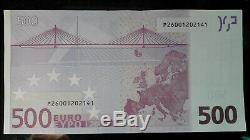 Très rare billet NEUF 500 EUROS 2002 Duisenberg P(Pays Bas) F001F2