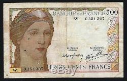 Très rare billet de 300 Francs Serveau en lettre W! Faire offre sérieuse