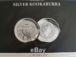 Tres rare coffret complet x20 Kookaburra 2017 20x 1 oz Argent pur 999.9