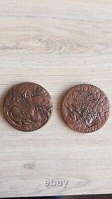 Très rare double médaille Découverte Des Grottes De Lascaux 1998 500 Exemplaires